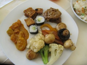 Happy Vegetarian Vegan buffet